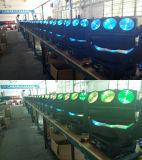 새로운 LED 9PCS 교체 회전 이동하는 맨 위 거미 광속 단계 DJ는 빛을 초래한다