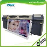 Máquina de impressão solvente Wer-S2504 do vinil com cabeças de 6PCS Seiko Spt510 35pl