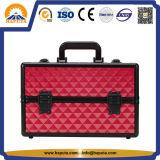 Roter ABS Diamant-kosmetischer Schönheits-Kasten (HB-2048)