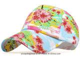 現代野生様式の花によって印刷される野球帽