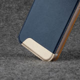 Leather Window S View Flip Cover para iPhone 6 Plus