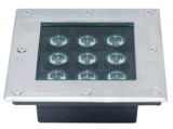 3W ~ 12W Square Waterproof LED Underground Light