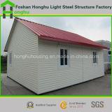 Chalet de acero casero prefabricado prefabricado de la casa de una sola planta de la casa