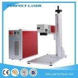 incisione del laser della fibra di 10W 20W 30W 50W sull'acciaio con Ce