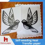 100%년 면 직물을%s t-셔츠를 위해 인쇄하는 각자 Weeding 전사지 승화