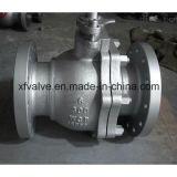 type de flottement robinet de Wcb d'acier de moulage 150lb à tournant sphérique d'extrémité de bride