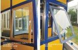 Guichet en verre enduit par poudre de tissu pour rideaux en aluminium avec le traitement multipoint de blocage
