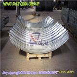 Pipa de acero acanalada galvanizada de la placa para la venta