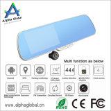 5 Auto DVR van de Spiegel van de Mening van het Scherm van de Aanraking van de duim de Achter met GPS Navigatie, Bluetooth, FM