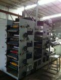 Impresora flexográfica de la etiqueta engomada de papel auta-adhesivo 7color