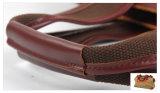 Sacco di corsa della tela di canapa lavato Duffel militare di sport della manopola del cuoio genuino (RS-6831A)