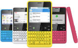 Téléphone cellulaire déverrouillé de clavier QWERTY de Nekia Asha 210