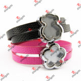 Slide all'ingrosso Leather Strap Band Wrist Lockets per Fashion Gifts (SWL50919)