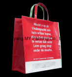 Saco de plástico de compra impresso logotipo para relativo à promoção