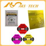 Escrituras de la etiqueta de envío autas-adhesivo de la etiqueta engomada del indicador del choque del OEM 25g