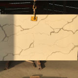 Pedra de cristal artificial projetada marmoreando de quartzo para a bancada longa da tabela de Coustomed
