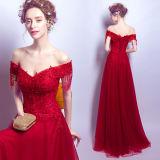 Neue Ankunfts-reizvolle lange Hülsen-Großhandelsfrauen-wulstiges Abend-Kleid