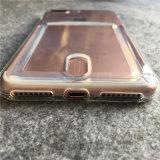 Caso antichoque suave de TPU con la ranura para tarjeta para el iPhone 7