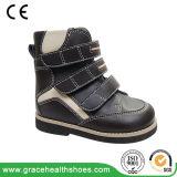 Стабилность студента Boots обувь зимы плоской ноги ребенка корректирующая с теплой подкладкой