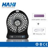ventilador elétrico de bateria de lítio 3.7V 18650 mini com luz do diodo emissor de luz