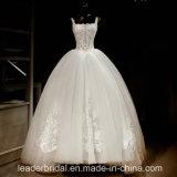 Vestido de esfera nupcial Bz1064 de Tulle das fotos reais brancas do vestido de casamento do laço