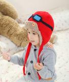 Haakt de Leuke Winter Warme Gebreide Beanie OpenluchtEarflap van de Kinderen van jonge geitjes Hoed van de Vliegenier van de Ski van het Oor van Kappen de Hoofd Warmere (HW611)
