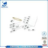 Escritura de la etiqueta impermeable de papel de la etiqueta engomada de la joyería del código de barras del vinilo