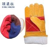 """14 de """" Lassende Handschoenen van de Veiligheid met de Volledige Versterking Plam van het Leer"""