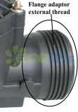Solenóide da irrigação na linha válvula com controle de fluxo