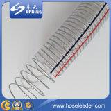Mangueira flexível reforçada em PVC com fio de aço inoxidável
