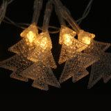 Decoración ligera ligera de la Navidad del árbol de navidad de la cadena del centelleo que contellea LED
