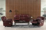 Sofá do couro genuíno da sala de visitas (C872)
