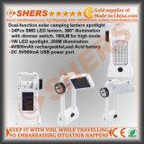 1W LED 토치 (SH-1971)로 야영을%s Portable 24 SMD LED 태양 빛