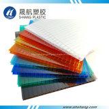 Hoja de sol de policarbonato hueco de la mejor calidad para el techo del edificio