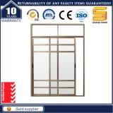 La última ventana de desplazamiento del aluminio de la doble vidriera del diseño /Aluminium Windows con diseño de la parrilla