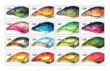 Attrait en plastique de pêche de catégorie supérieure--Amorce enduite UV de manivelle de forme de jabot (HW001)