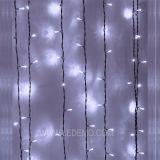 [لد] دافئ بيضاء زخرفيّة خيم ستار ضوء