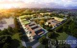 Mening van het Ontwerp van de school de Architecturale Teruggevende Lucht met Magische Technologie