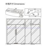 Morsetto di vetro del portello della lega dell'acciaio inossidabile 304/alluminio di Dimon, zona che misura il vetro di 8-12mm, montaggio della zona per il portello di vetro (DM-MJ 211S)