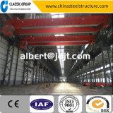 Chaud-Vendant le prix de construction d'entrepôt/atelier/hangar/usine de structure métallique avec la grue 5/10/20 tonne