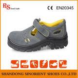 Chaussures de travail antidérapantes de vente chaudes de cuir de suède de santals de sûreté