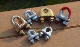 Tourillon, clips de corde de fil d'acier, jumelle