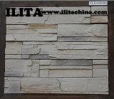 Telha cerâmica de pedra cultivada da parede para o material de construção