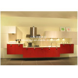 現代食器棚のホーム台所金属フレームのキャビネット