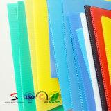 Panneau en plastique ondulé coloré de panneau creux en plastique de feuille de pp