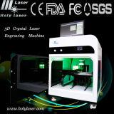 Photo Crystal et verre, 2D & 3D subsurface gravure laser machine de gravure de 300 * 400 * 150mm