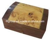 Caixa de madeira personalizada do cigarro do revestimento antiguidade Glassy gama alta com forro
