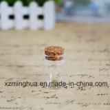 コルクが付いているキャンデーの丸薬ホウケイ酸塩のガラスビン