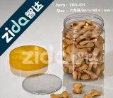 L'animale domestico di plastica trasparente di figura rotonda del campione libero può latta vuota dell'animale domestico dell'alimento per alimento