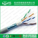 Cable de LAN de la red del ftp Cat5e con el conductor de cobre 24AWG
